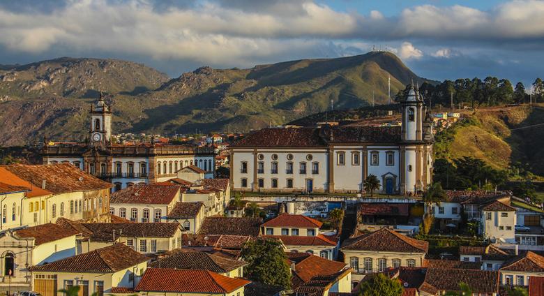 Vista aérea de Ouro Preto